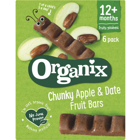 Buy Organic Date <b>&</b> Apple Fruit Bars Online -Organic Baby Food | Organix Shop