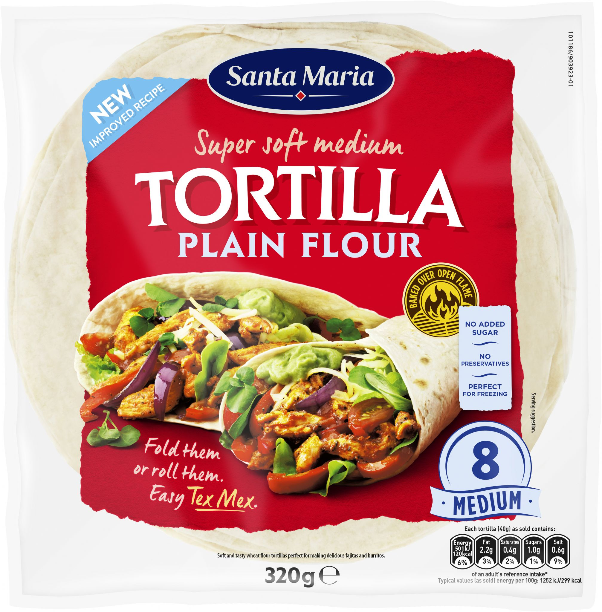 Large Plain Flour Soft Tortillas