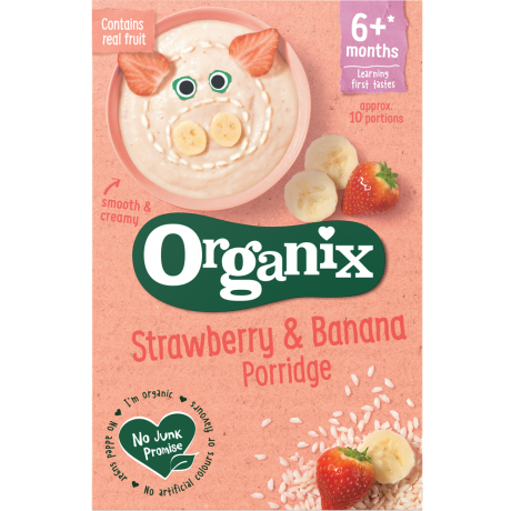 Strawberry & banana porridge